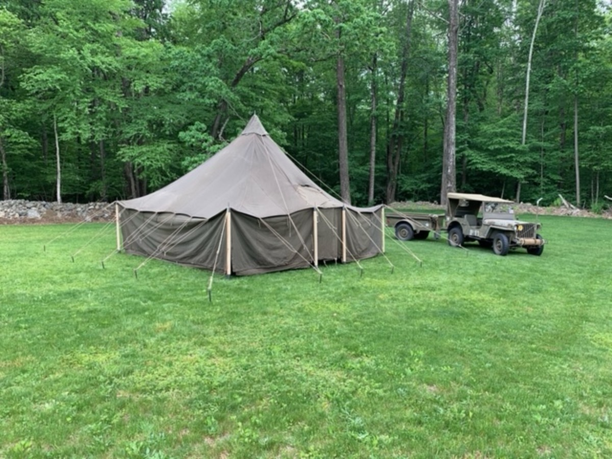 """Tracy Counterman wrote, """"My 1944 GPW In the back yard as I was getting things ready for the WWII Weekend in Reading, Pennsylvania."""""""