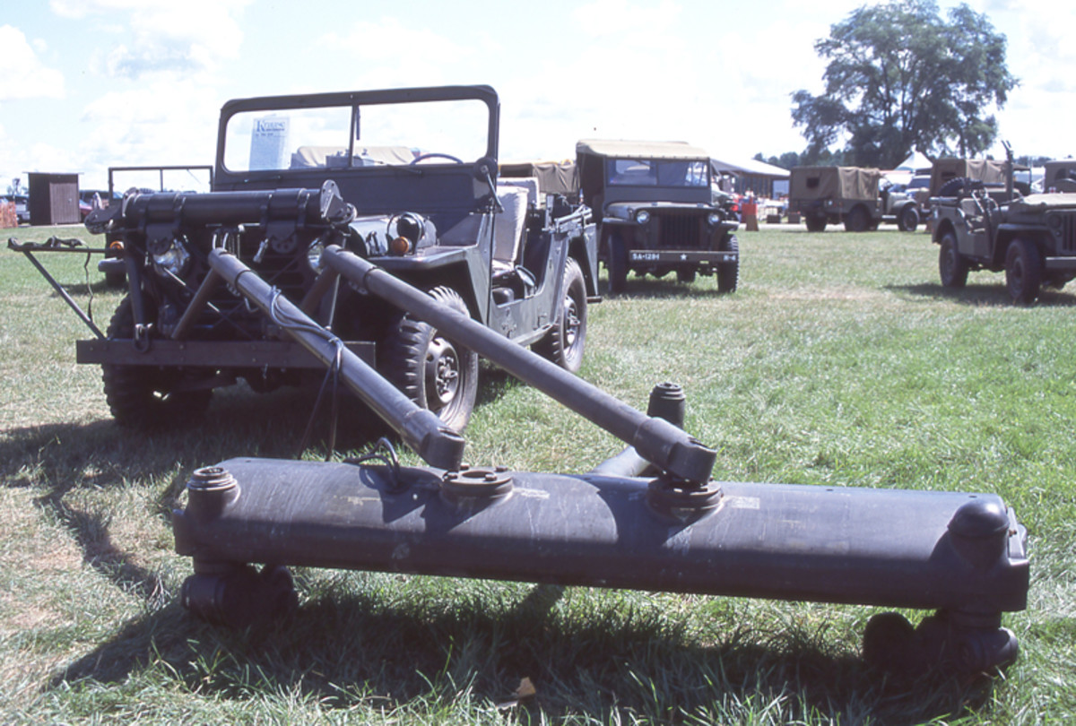 1967 Ford-produced M151A1 equipped with a P170 mine detector