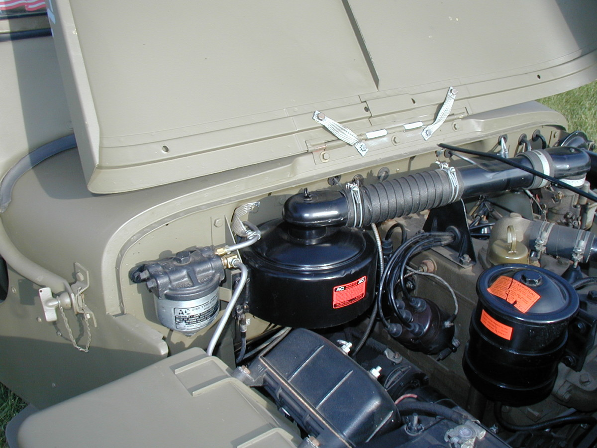 """The AC Spark Plug Co. """"hat style"""" air cleaner was later replaced by the Oakes model."""
