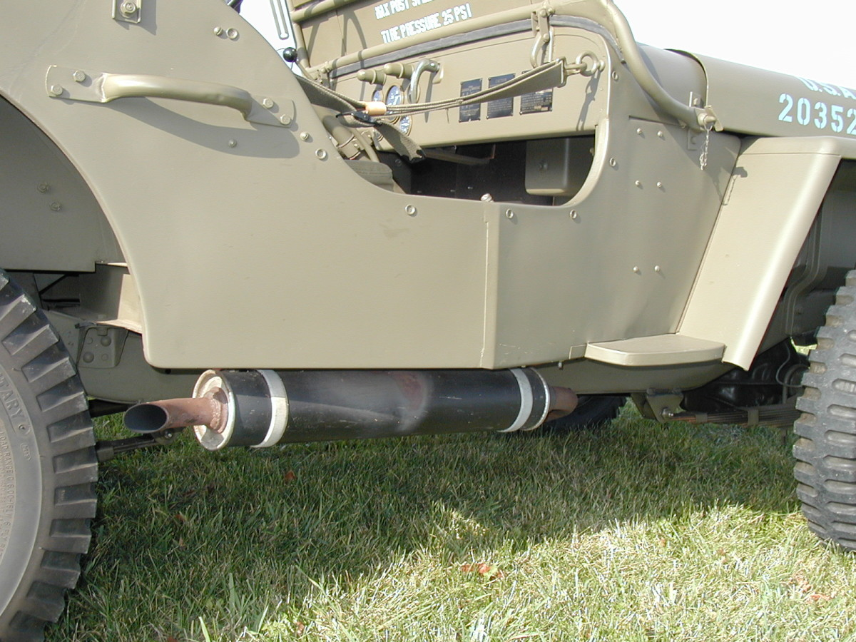 The first mufflers were round later change to oval in shape.