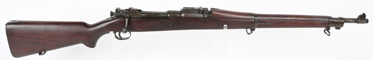US Marine Corps 1903 Springfield rifle, manufactured by Springfield Arsenal and later reissued by USMC in 1903-A1 configuration. Accompanied by 1955 'USMC Supply Center Albany Georgia' receipt documenting sale to Lt. Col Alexander Elder. Sold for $7,800, nearly four times high estimate