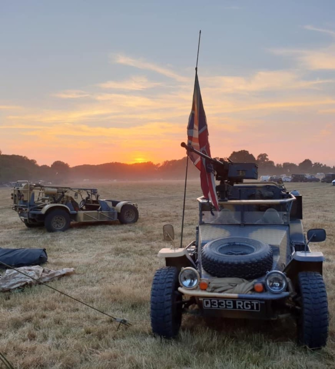Pair of LSVs at sunset.