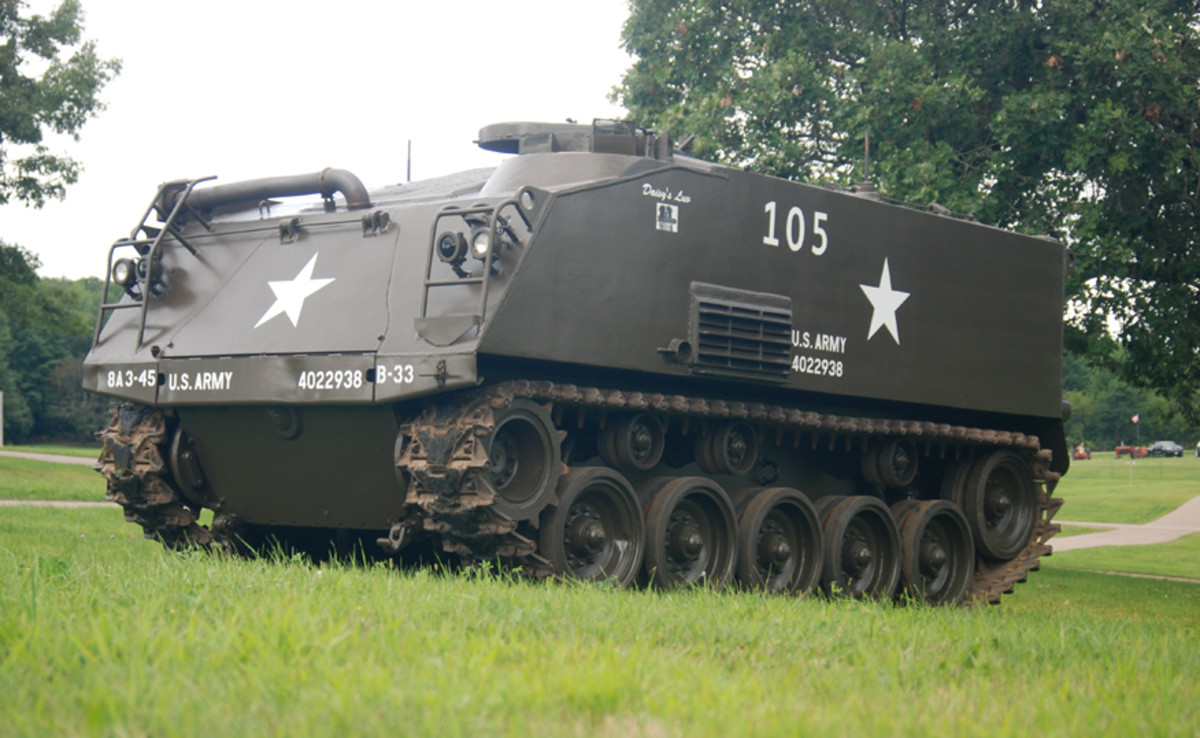 1952 M75 Armored Personnel Carrier.Owned by Mark Austin.Restored by Mark Austin, Bryan Austin, Bradley Nitzke, Lenny Langkau, and Tom Feltz