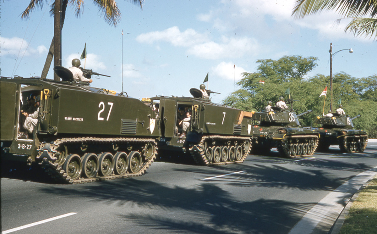 M75s and M41s May 1957 Honolulu Hawaii VC 2-27-12-003r
