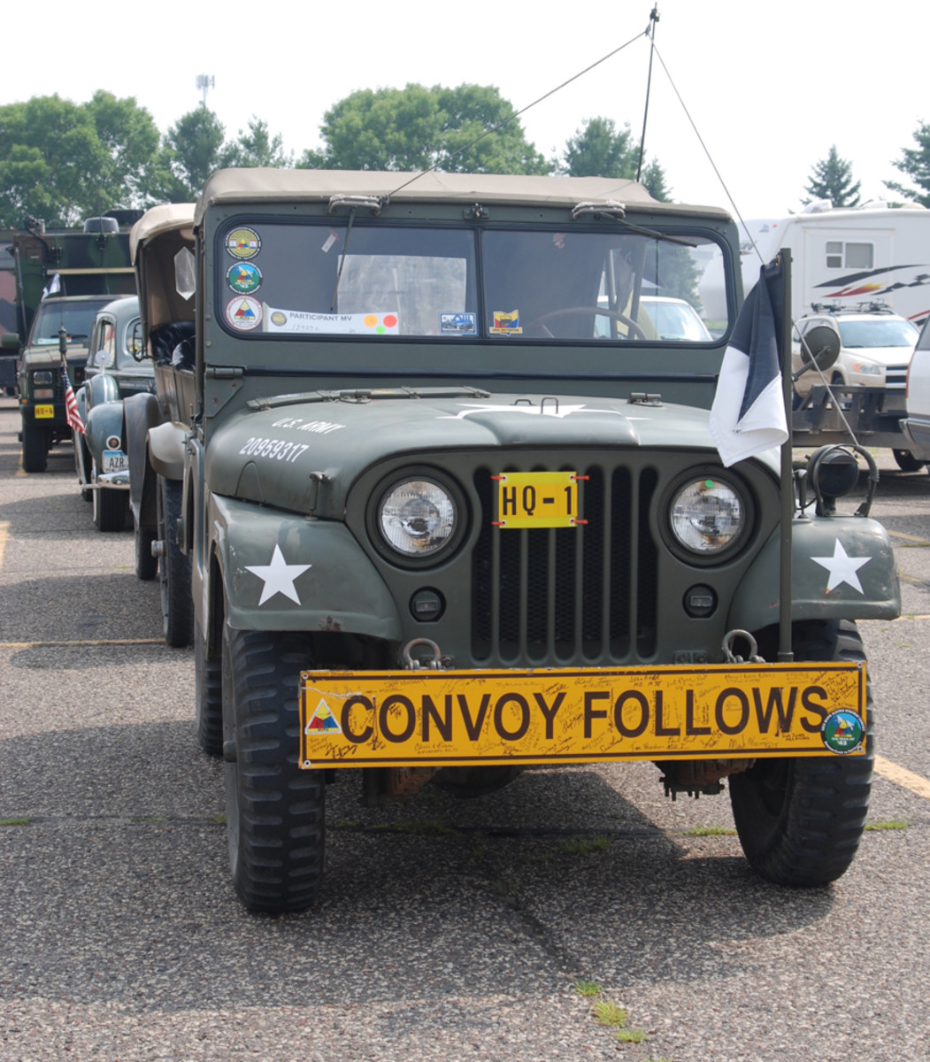 Convoy Commander Terry Shelswell's M38A1.