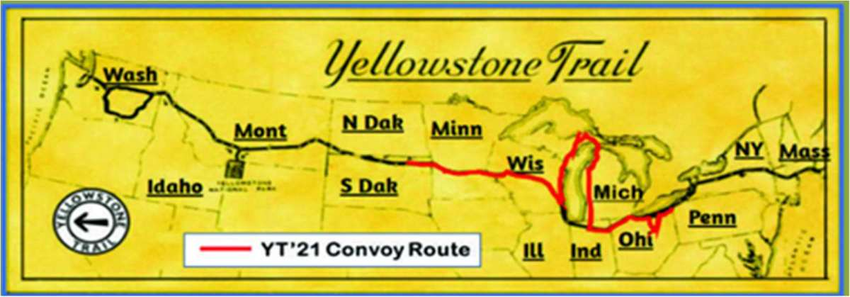 Route of the 2021 MVPA Convoy