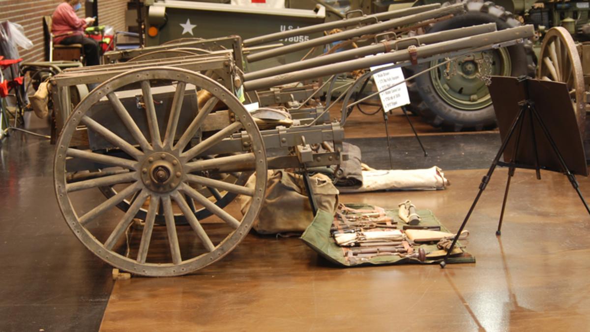 Leonard Grummell's original, out-of-the-crate WWI machine gun cart.