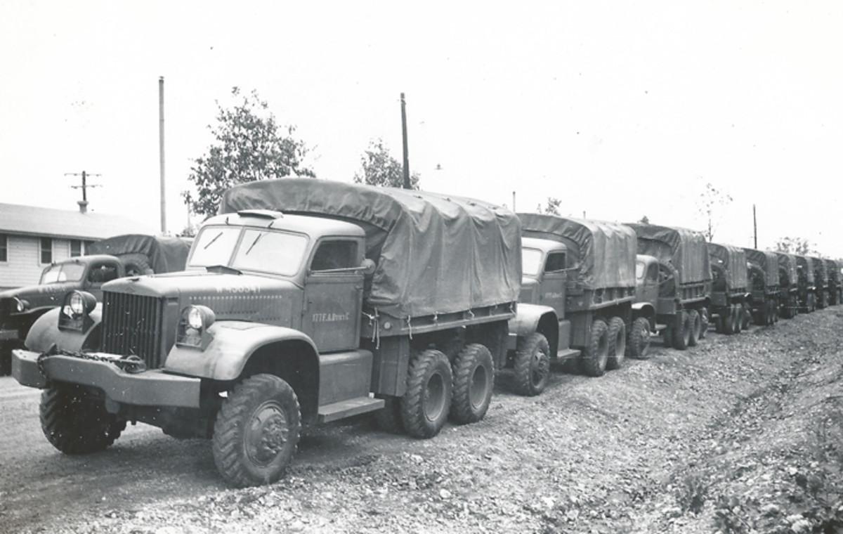 Diamond T 968s in Plauen, Germany, 1945.