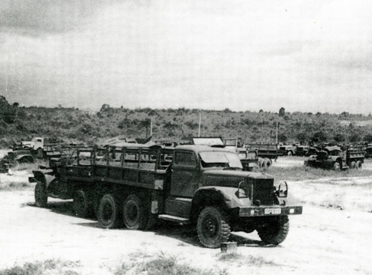 Diamond Ts in the Long Binh Depot PDO yard in 1965-66.