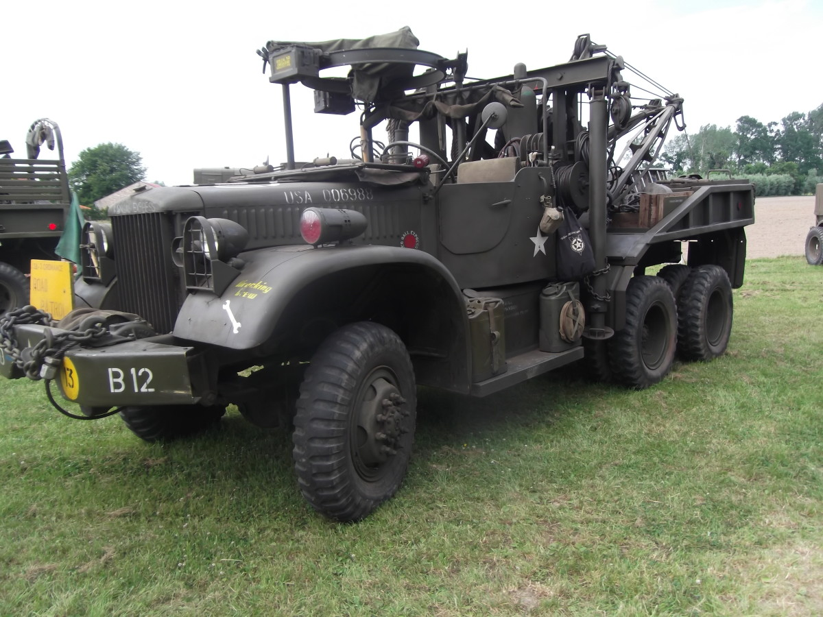 André Witmeur's 1944 969A with open cab and M36 machine gun ring mount.