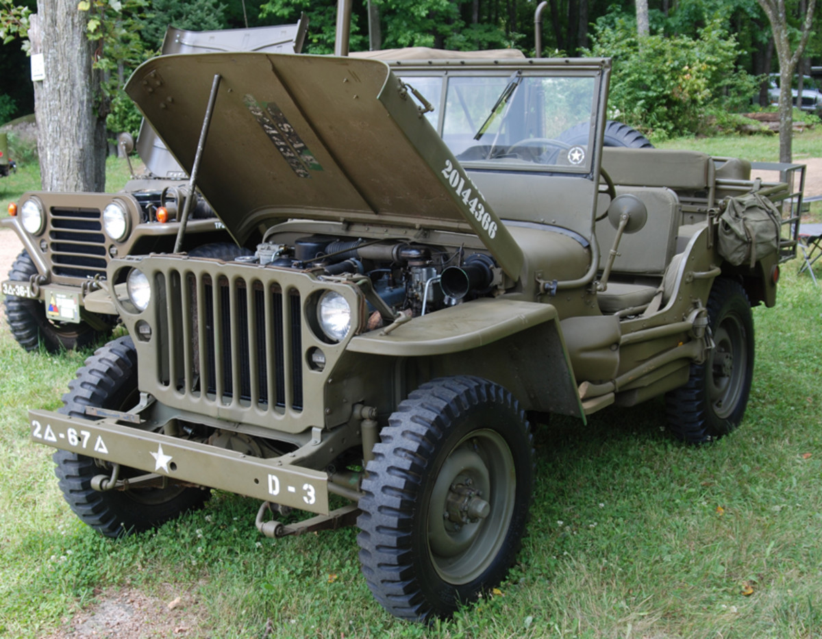 """""""Most Original Parts on a WWII Vehicle"""" went to Dan Wesolowski's 1942 GPW."""