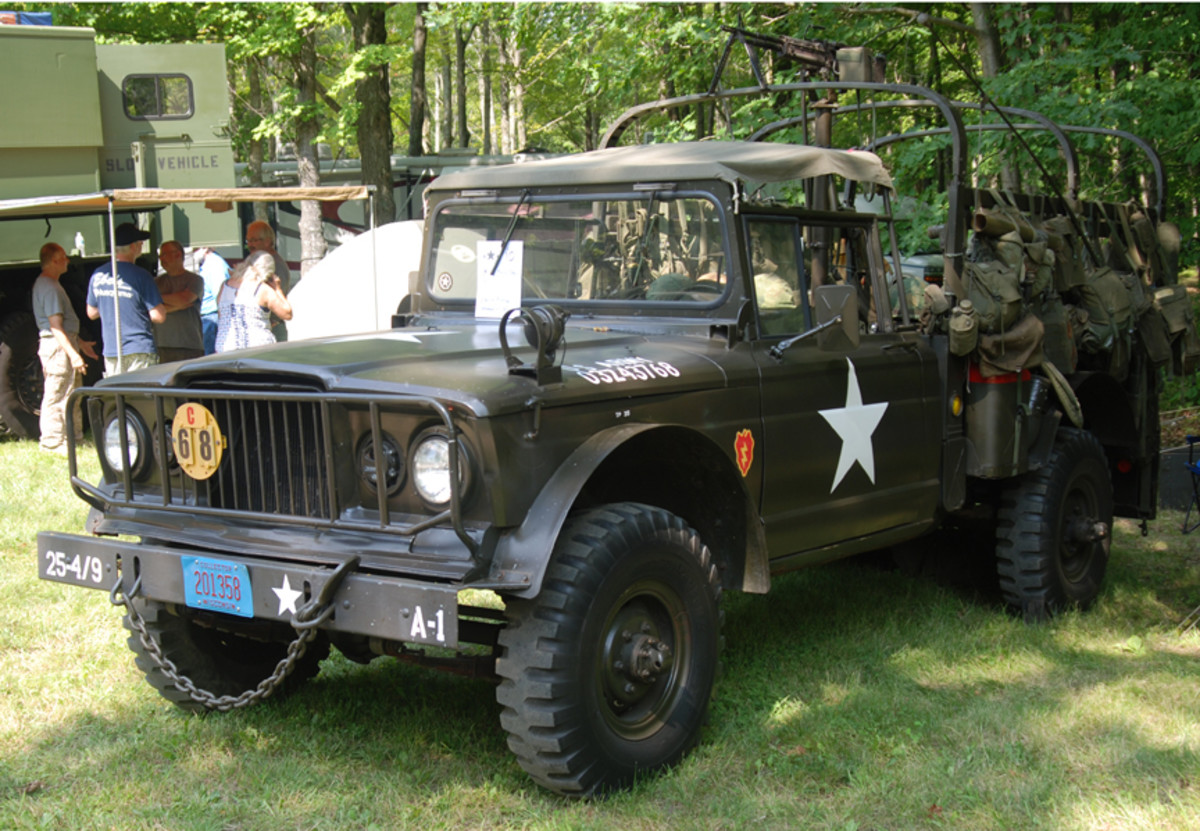 """With no doubt, Brad Ackerman earned the """"Most extras on a Military Vehicle"""" when he showed off his 1968 M715 with enough Vietnam field gear for a 8-man squad."""