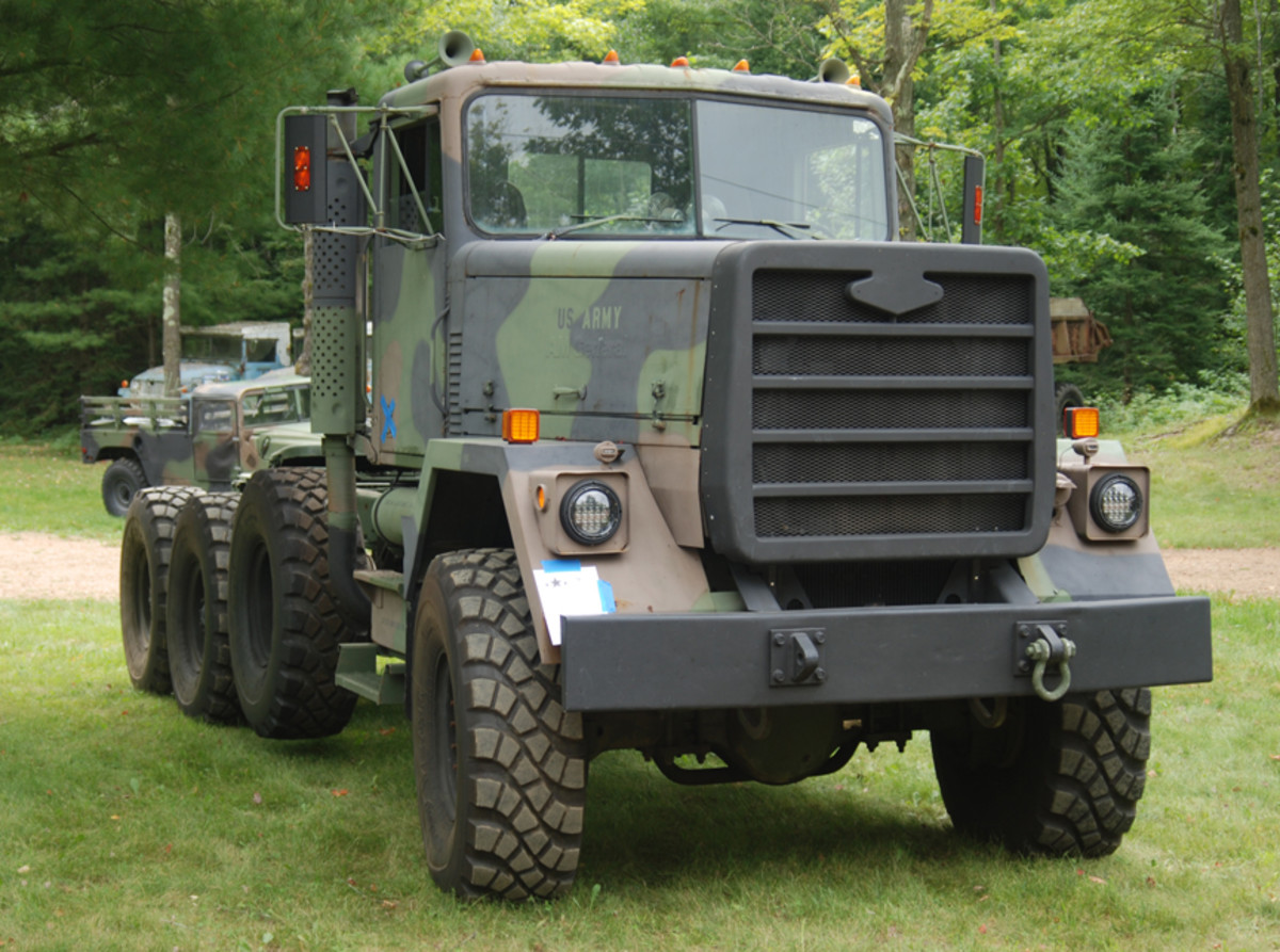 """Not to be outdone, Ken Spencer took home the """"My Truck is Bigger Than Your Truck"""" award for his 1980 M920 tractor."""