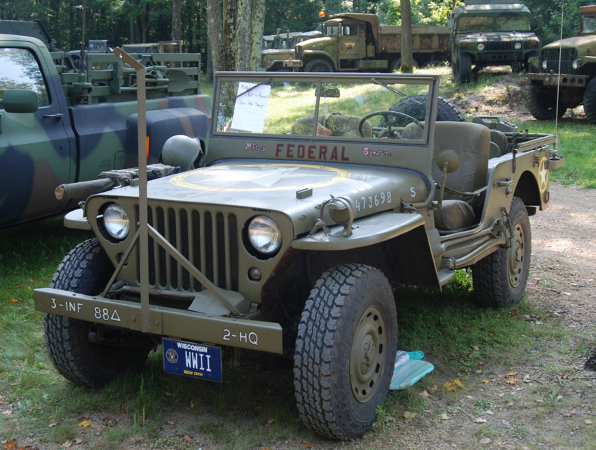 """Ironically, I couldn't find an owner's name on the """"Most Handwriting on a Military Vehicle"""" recipient for his """"Veterans sign my Jeep"""" entrant."""