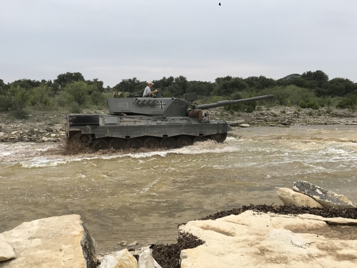 With the instructor close by, my soon-to-be 15-year-old son Jesse took full control of a German Leopard 1A4 Battle Tank — 60 tons of power and agility.